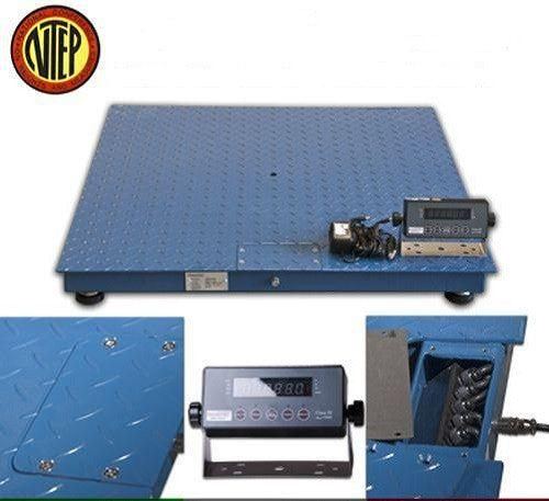 DWP-5000F 5,000 Lbs 4' X 4' NTEP Legal For Trade Industrial Floor Scale - Solutionsgem