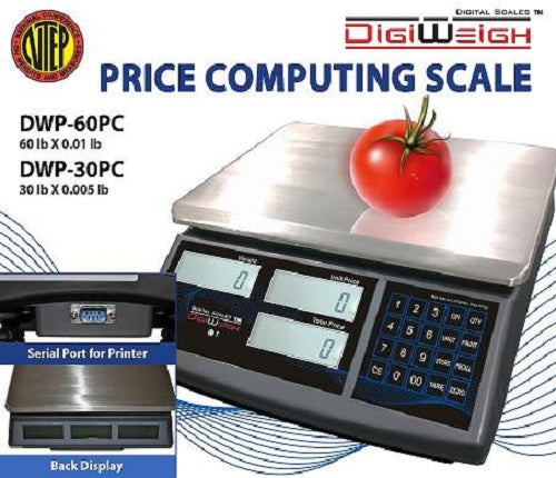 DWP-60PC 60 Lb NTEP Legal For Trade Price Computing Scale