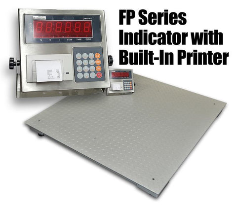DWP-FP 10,000 Lbs 4' X 4' Industrial Floor Scale With Indicator Printer - Solutionsgem