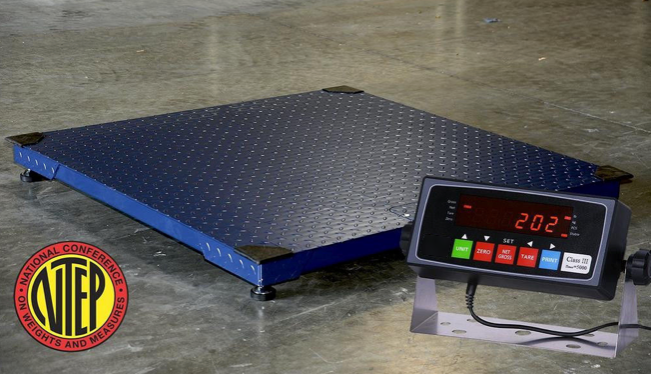 "GIE Series NTEP Legal For Trade 48"" X 48"" Industrial Floor Scale Different Capacities Available - Solutionsgem"