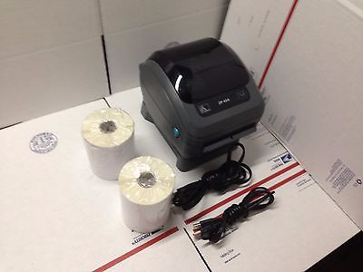 "Refurbished Zebra ZP450 Thermal Label Barcode Printer With 500 4"" x 6"" Labels"