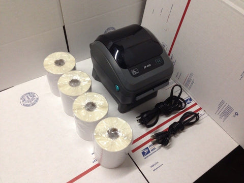 "Refurbished Zebra ZP450 Thermal Label Barcode Printer With 1,000 4"" x 6"" Labels"