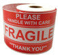 "3"" X 5"" Glossy Fragile Adhesive Shipping Labels Various Quantities Available"