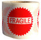 "1.5"" Diameter Glossy Adhesive Fragile Stickers Various Quantities Available"