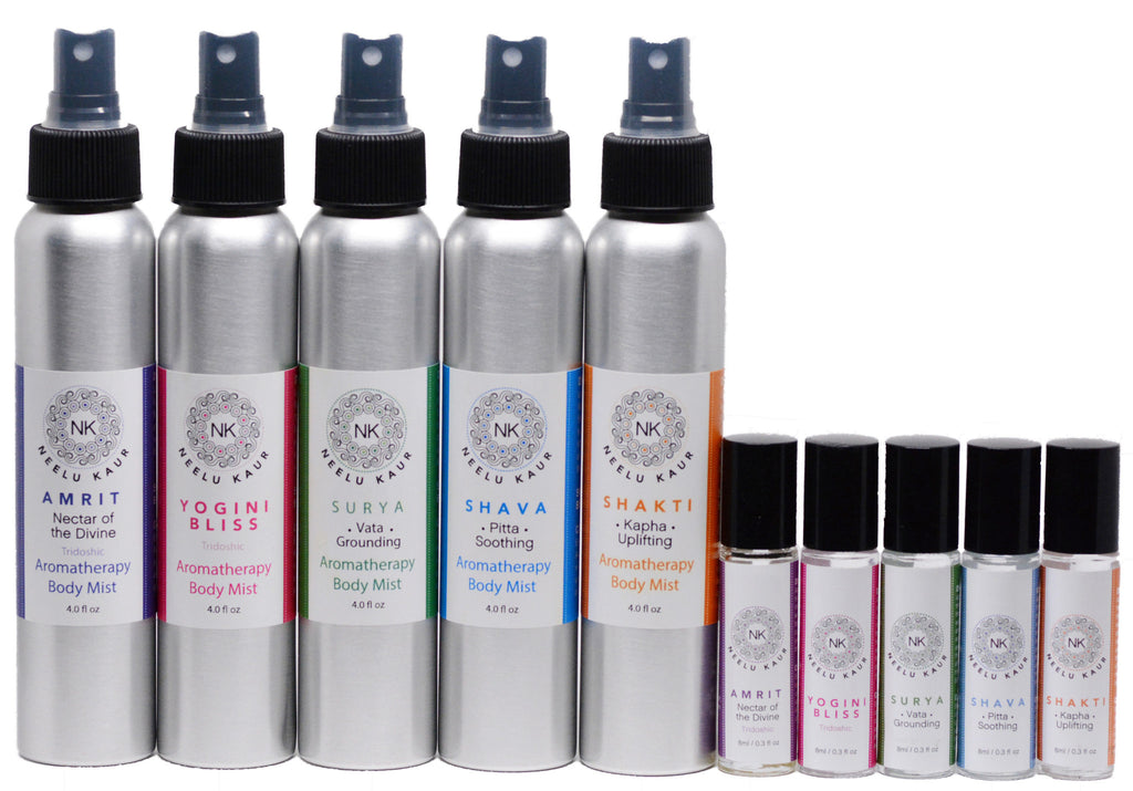 Amrit, Yogini Bliss, Surya, Shava + Shakti Oil & Body Mist