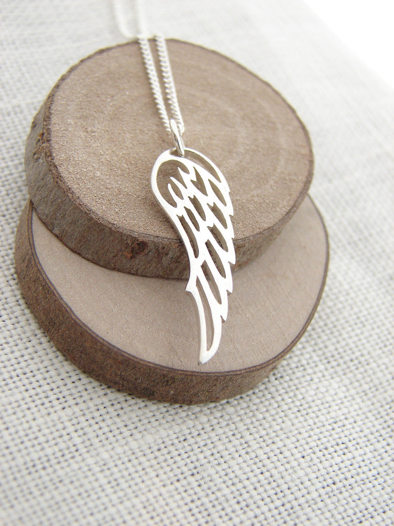 Angel Wing Sterling Silver Necklace