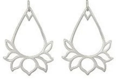 Lotus Earrings - Yoga earrings