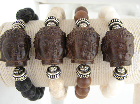 Buddha Bracelet | The Enlightened Journey | Coral Stones - Pranajewelry - 1
