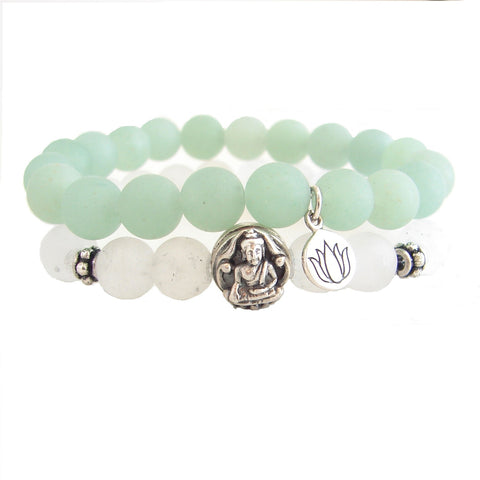 Buddha Bracelet Stack | Envision the Journey | Lotus