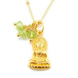 Buddha Peridot Necklace - Enlightened Truth - Pranajewelry