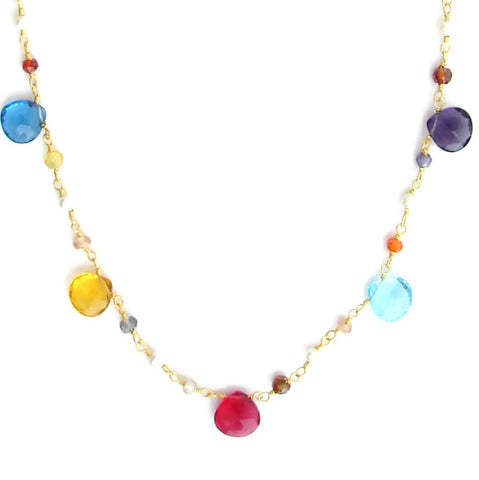 Chakra Bouquet of Gemstone Necklace - Balance - Pranajewelry - 1