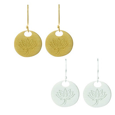 Lotus Earrings | Gold Vermeil | New Beginnings Inner Beauty - Pranajewelry