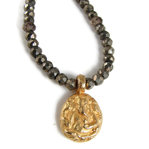 Ganesh Pyrite Necklace