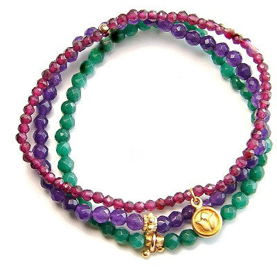 Colorful Gopi Bracelet Stack - Devotion Love - Pranajewelry - 1