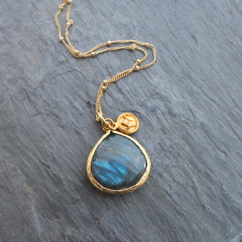lotus Labradorite necklace