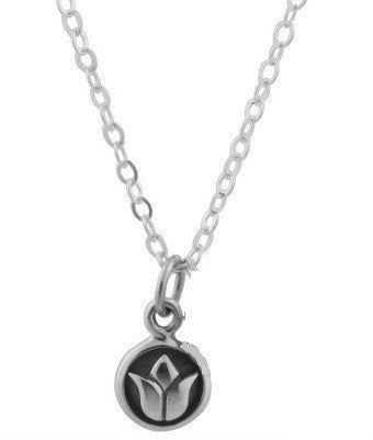 Lotus Sterling Silver Necklace-  Inner Beauty - Pranajewelry