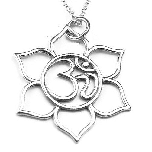 Om Lotus Necklace | Yoga Jewelry | Harmony Inner Beauty - Pranajewelry