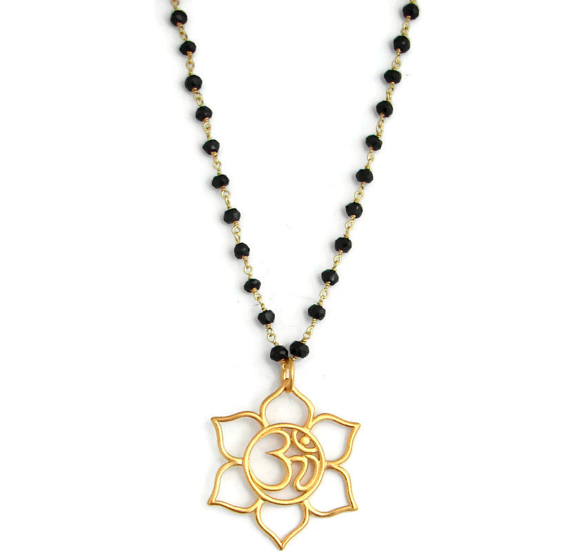 Mangalsutra Om Lotus Necklace | Protection Yoga Jewelry - Pranajewelry - 1