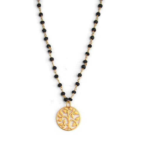 Mangalsutra Tree of Life Spinnnel  Necklace - Grounding Nurturing Protection - Pranajewelry - 1