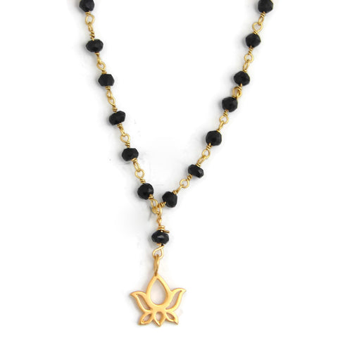 Mangalsutra Lotus Necklace | New Beginnings Protection - Pranajewelry - 1