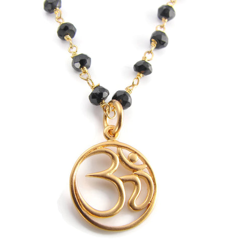 OM Mangalsutra Necklace |  Spinnel Necklace | Protection  Divinity | Yoga Jewelry - Pranajewelry