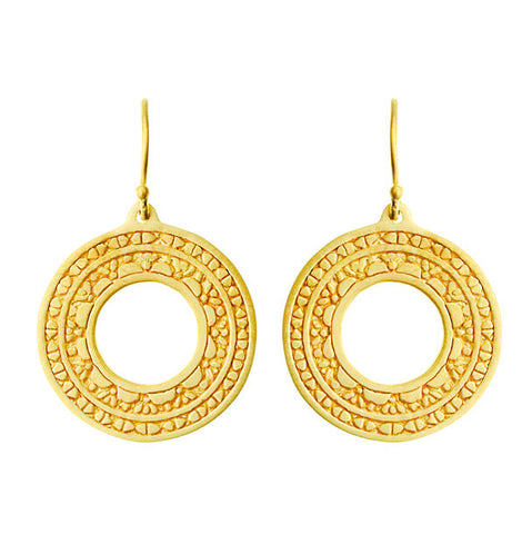 Mandala Gold Earrings Medium - Inner Truth - Pranajewelry