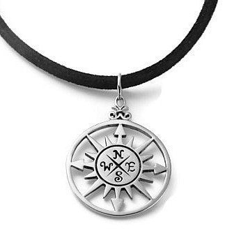 Mens Compass  Necklace