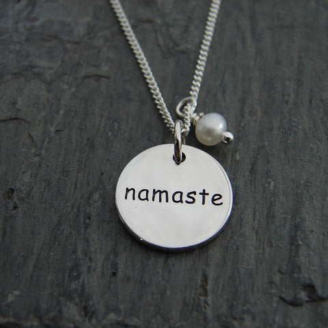 Namaste Pearl Necklace - Purity - Pranajewelry