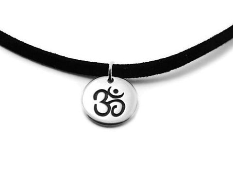 Mens OM Necklace | Yoga Jewelry Necklace | Harmony Bliss - Pranajewelry