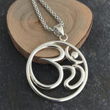 Yoga Jewelry,Mens OM Pendant Necklace