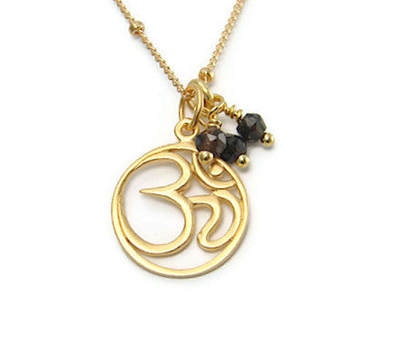 Om Gold Necklace - Yoga Jewelry