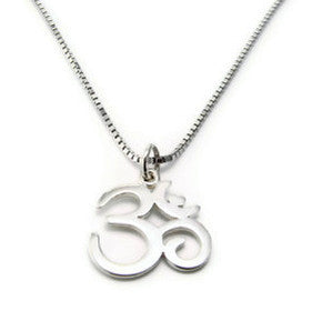Sterling Silver, Mens Om Necklace- Yoga Peace Harmony Balance - Pranajewelry - 1