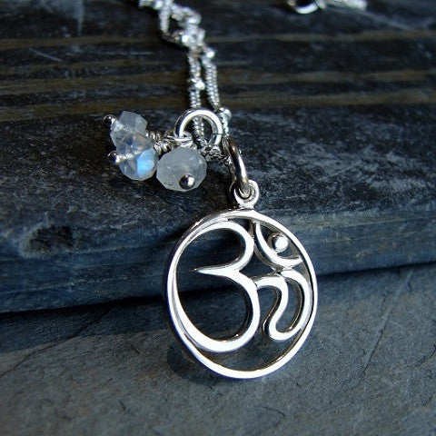 OM Moonstone Necklace