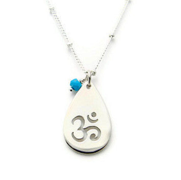 Om Silver Necklace