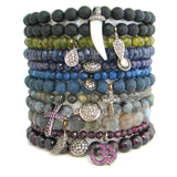 Beaded Diamond Bracelets - Luxe stretch bracelets