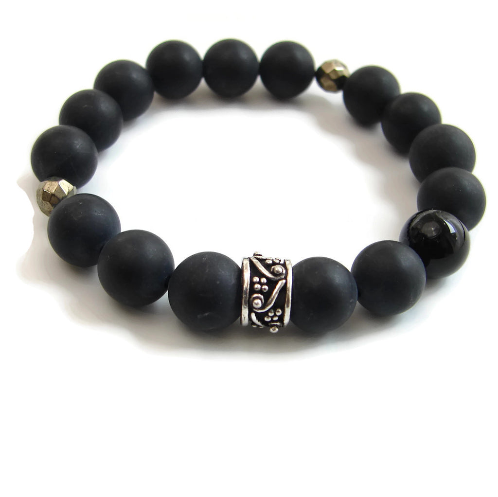 Mens Prayer Bracelets | Awaken your Inner light | Om,  Black Onyx,  African Opal - Choose 1 or all - Pranajewelry - 3
