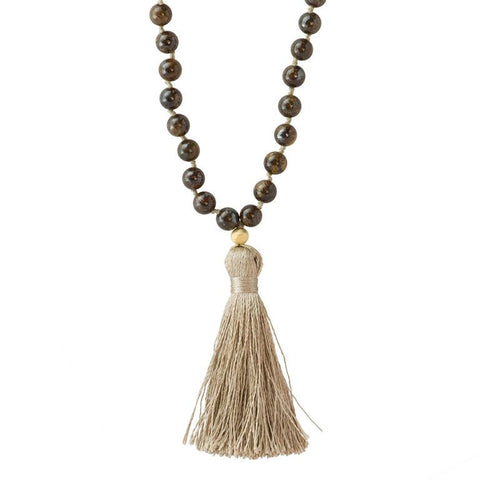 Bronzonite Mala Prayer Beads - Pranajewelry - 1