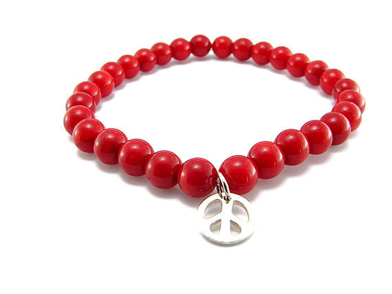 Red Coral Peace Bracelet - Peace Intuition Harmony - Pranajewelry