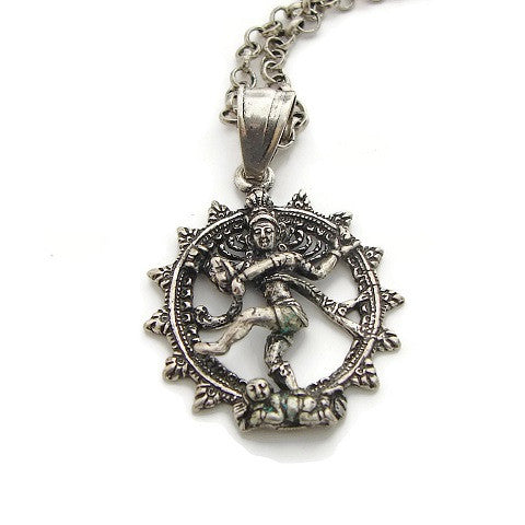 Shivas Cosmic Dance of Life Necklace - Nataraja- Enlightenment - Pranajewelry