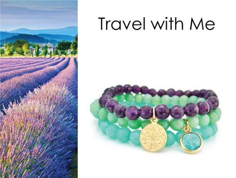 Travel jewelry boho stack