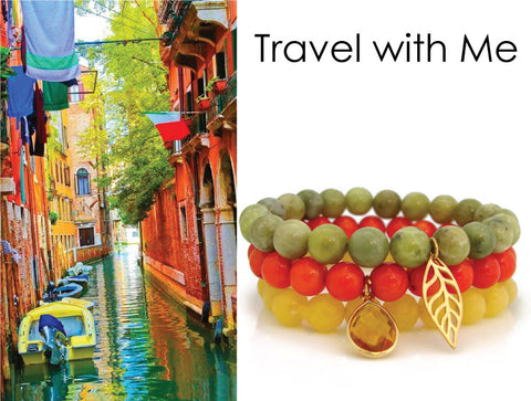 Travel with Me - Travel Jewelry Tulsi Bracelet Stack - Pranajewelry - 1