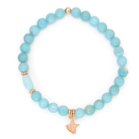 Amazonite Dove Bracelet - Soar with Me