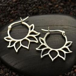 Rising Lotus Petal Earrings - Yoga Inspired - Pranajewelry
