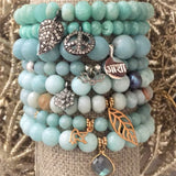 Truth and Transformation Bracelet - Amazonite | Lotus Charm