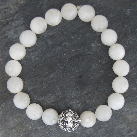 Ganesh Moonstone Bracelet | Remover of Obstacles  Hope - Pranajewelry