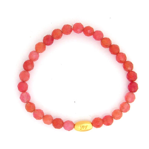 Bring the Joy Into Your Life - Cherry Quartz Gemstone Bracelet - Pranajewelry