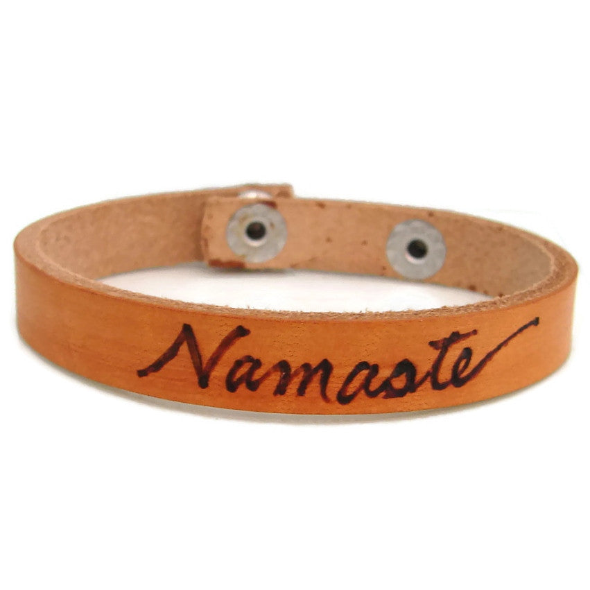 Namaste Leather Bracelet - Pranajewelry