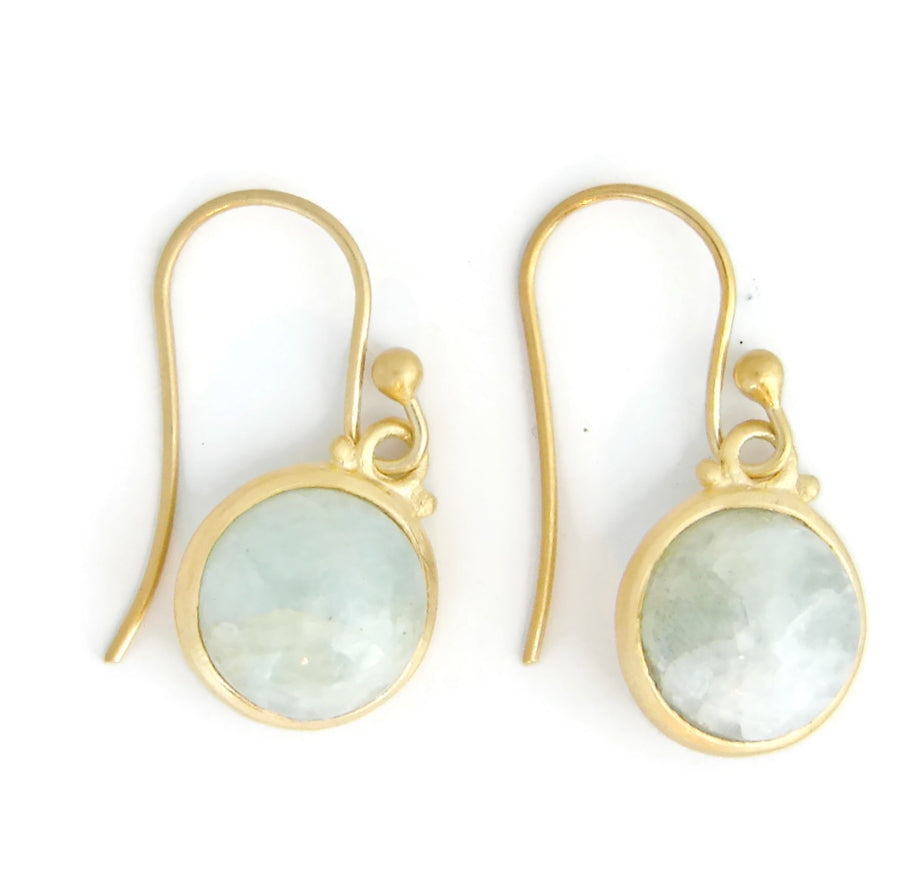 Aquamarine gemstone earrings | vermel | bezel