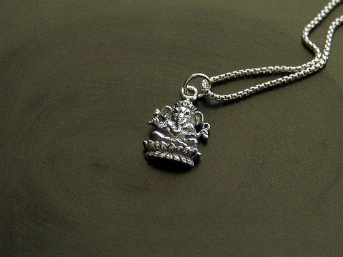 Mens Ganesh Necklace - Wisdom to Success - Pranajewelry