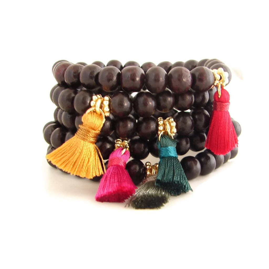 Madras Summer Tassel  Bracelets | Travel Jewelry | Celebrate the Festive Colors of Summer
